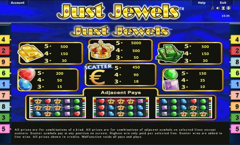 Символы игрового автомата Алмазы