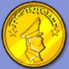 Золотая монета Резидент