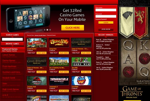 casino 32 red