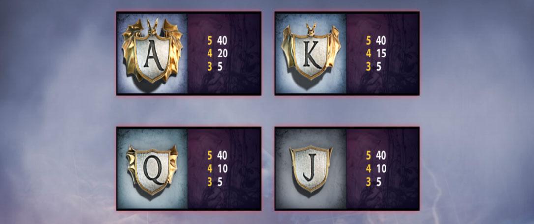 дракула карткові символи