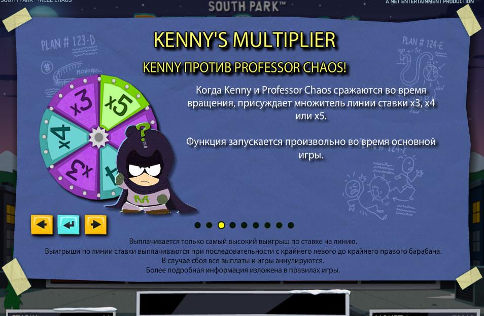 Бонусная игра Кенни Мультиплеер