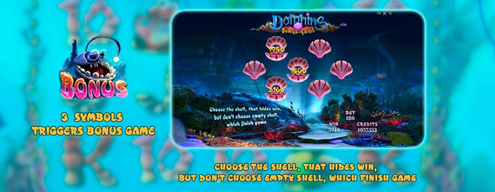 Бонусная игра автомата Дельфины