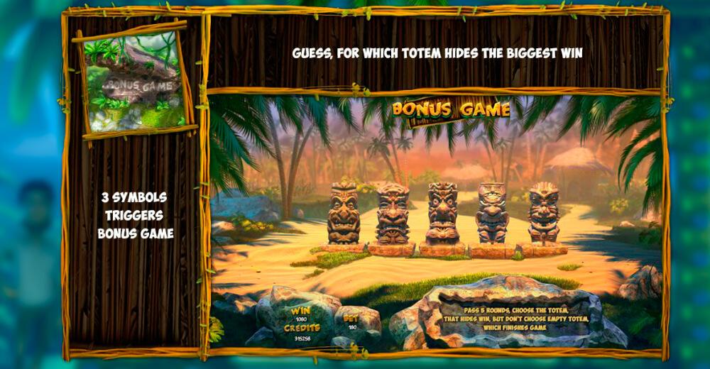 Бонусная игра автомата Робинзон
