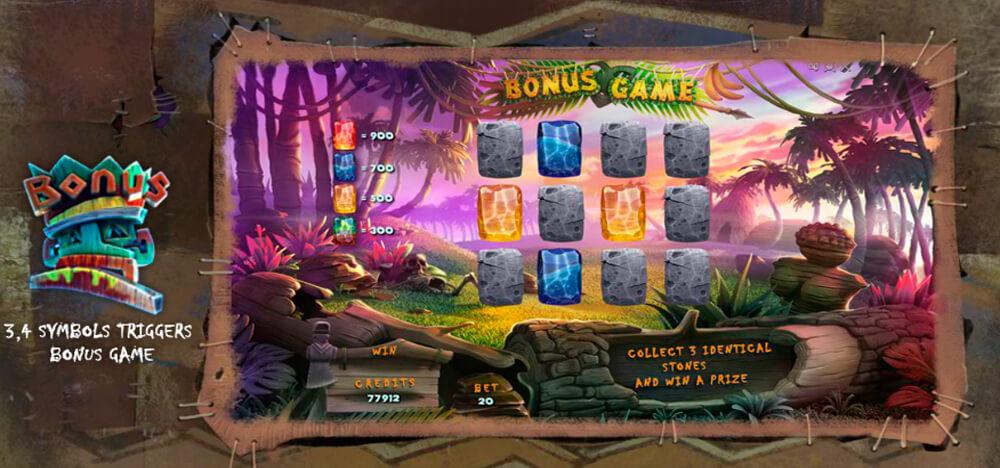 Бонусная игра автомата Тотемы