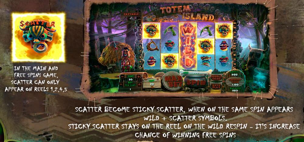 Scatter символы автомата Тотемы